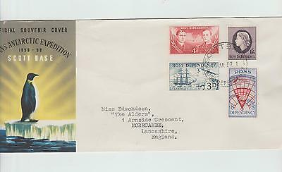 New Zealand Ross Dependancy  1957  First Set  on FDC with typed address.