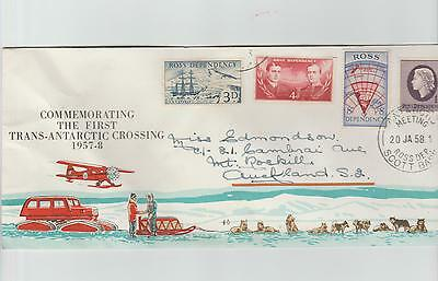New Zealand Ross Dependancy  1957  First Set  on cover  - 1st ANTARTIC CROSSING.