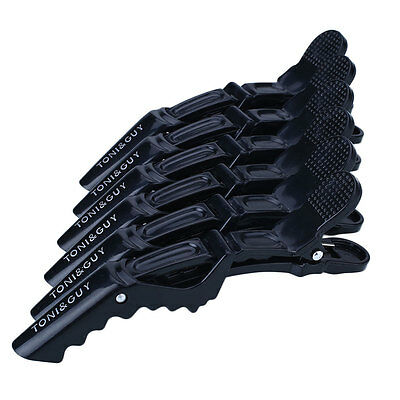 6Pcs Salon Black Matte Sectioning Crocodile Hair Clips Clamp Hairdressing