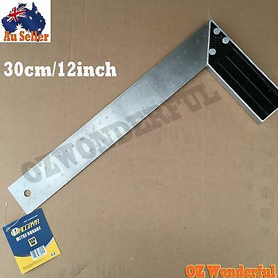 30cm 12''inch L Shape Angle Square Ruler Measuring Tool Stainless Steel Measure