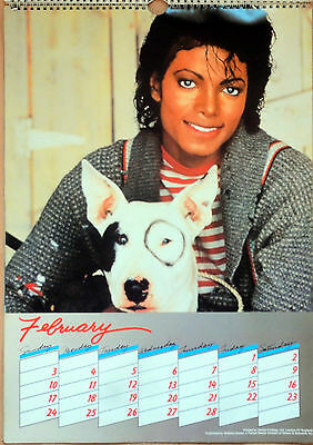 Michael Jackson 1985 Official British Calendar 12 photo LARGE poster size THRILL