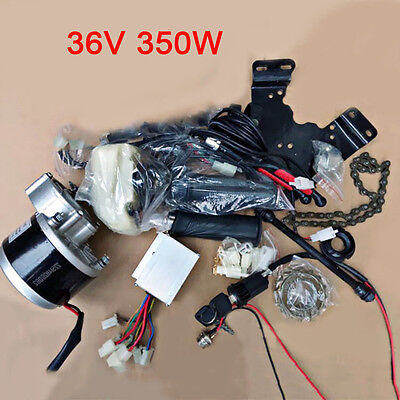 DIY Electric Bike Conversion Kit 36V 350W Geared Brush Motor Cycling Accessories