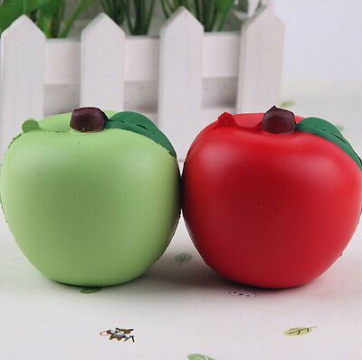 Cute Green Fund New Arrival Apple 7CM Slow Rising 1PCS Squishy Bread Red Straps