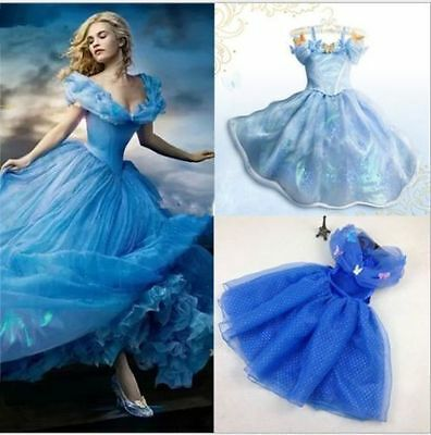 Déguisement Cinderella Princess Gown Girl Kids Dress Cosplay Party Fancy Gift2-8