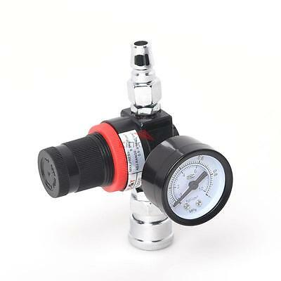 1/4 Inch Air Pressure Regulator with Gauge Hose Quick Release Compressor 145 PSI