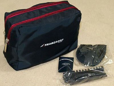 Russian Transaero Airlines Travel Amenity Kit Bag w/ Contents