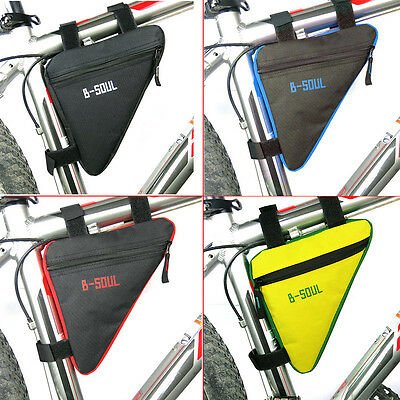 Cycling Bike Bicycle Front Frame Pannier Tube Triangle Bag Saddle Pouch I6
