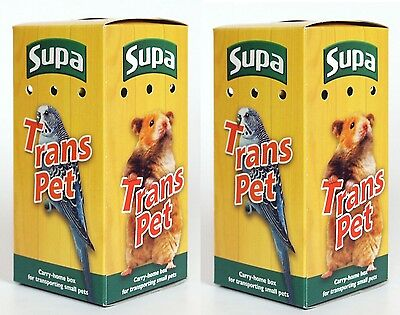 Pack of 2 Transport Box for Birds & Small Animals Canary Gerbil Hamster