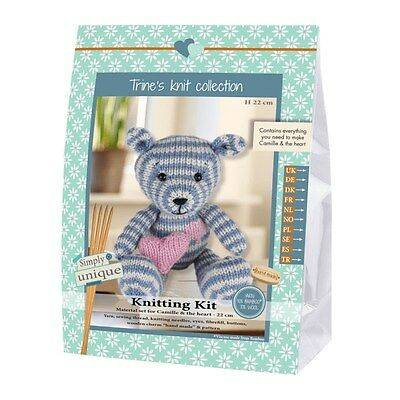NEW | Go Handmade Knitting Kit | Lukas & Friends Bear Camille | FREE SHIPPING