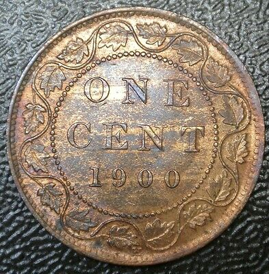OLD CANADIAN COIN 1900 H - ONE CENT - LARGE CENT - Victoria - Nice