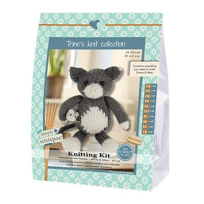 NEW | Go Handmade Knitting Kit | Lukas & Friends Cat & Mouse |FREE POST