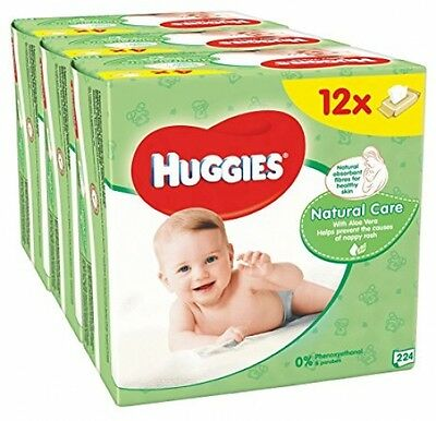 Huggies Natural Care Baby Wipes - 12 Packs (56 Wipes Per Pack, Total 672 Wipes)