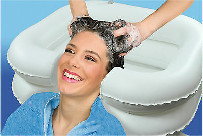 Inflatable Shampoo Basin | Portable Sink For Washing Hair In Bed | Travel