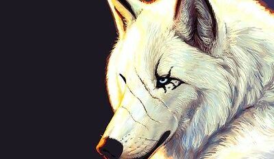 White Wolf TCG playmat, gamemat 60cm wide 36cm tall for trading card game smooth