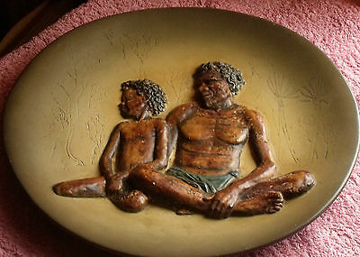 Bossons Pottery Father And Son Rare Plate / Wall Plaque