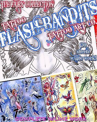 "Tattoo Flash ""fairy Flash"" On Cd/dvd 130 Sheets With Line Work!"