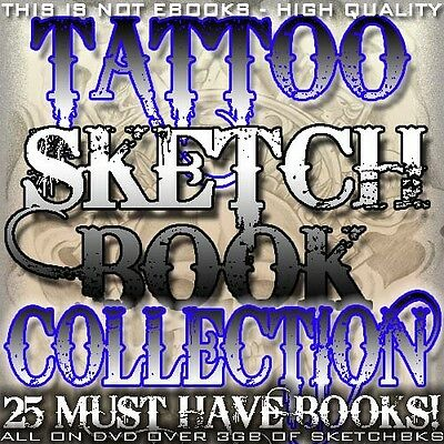 "Tattoo Flash ""tattoo Sketchbook Collection"" On Cd/dvd 25 Must Have Ebooks"