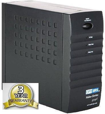 OPTI VS575CB (575VA) Uninterruptible Power Supply Battery Back UPS - Compact