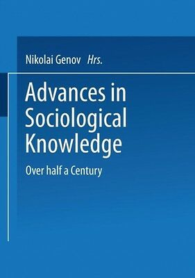 Advances In Sociological Knowledge  9783810040121