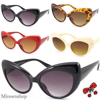 Women's Rockabilly Vintage Cat eye Sunglasses Retro 50's Pin Up