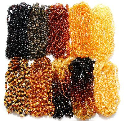 Wholesale Genuine Baltic Amber Beads Baby Teething Necklaces 11 Color Variations