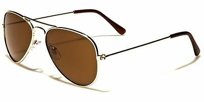 Kids Boys Girls Ages 5 - 10 Gold Aviator Sunglasses Free Costume Pilot Pin A42