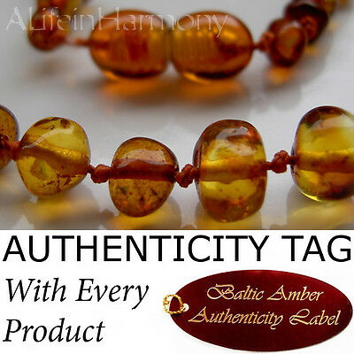 Honey BALTIC AMBER Child Teething NECKLACE AGbA® Certified