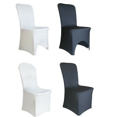 1/50/100pcs Spandex Lycra Chair Cover Coevers Banquet Wedding Party White/Black