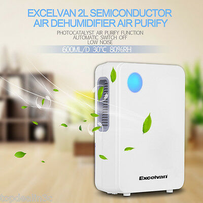 2L Portable Semiconductor Air Dehumidifier Purifier Home Kitchen Garage Bathroom