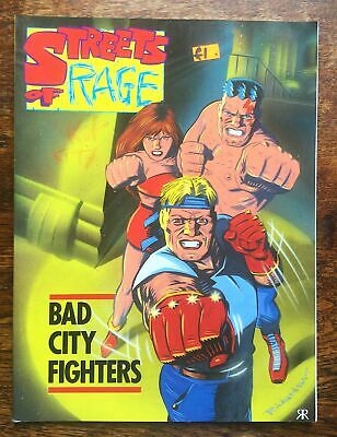 MARK MILLAR Streets of Rage Bad City Fighters Sega Graphic Novel 1994 1st Editio