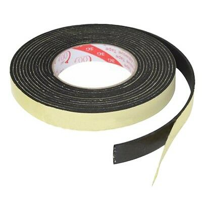 WD 5m Black Single Sided Adhesive Foam Tape Closed Cell 20mm Wide x 3mm Thick