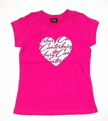 Canterbury Girls Heart Tee Shirt  / T-Shirt Age 6 8 10 12 14 Years Rrp £13