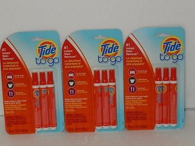 Tide To Go #1 Instant Stain Remover Lot 3 Packs of 3 Portable Pens (9 Total)