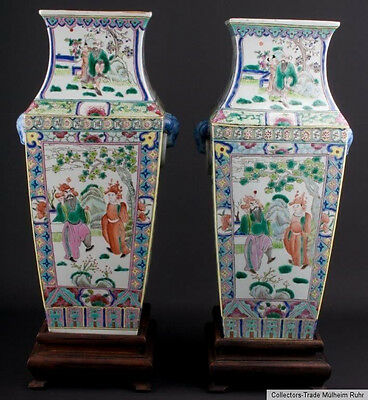 China 20. Jh. Vasen -A Pair of Chinese Baluster Porcelain Vases - Cinese Chinois