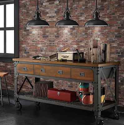 Whalen Industrial Metal And Wood Workbench 163 352 88