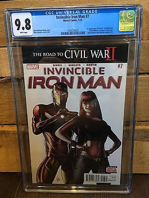 Invincible Iron Man #7 Cgc 9.8 Nm/mt 1St App Of Riri Williams (Id 7316)