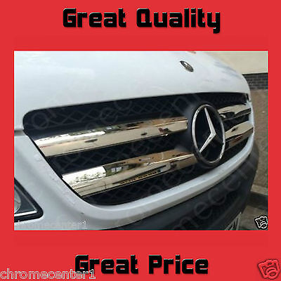 Mercedes Sprinter  Chrome Front Grill Trim Cover Stainless Steel 906