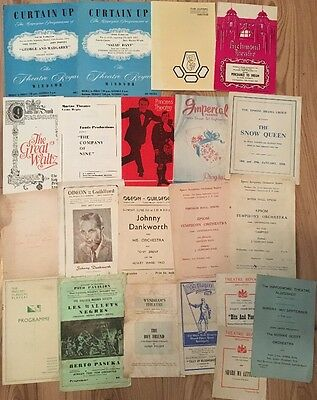 Job Lot 21 x Vintage Theatre Programmes 1940's-1960's Many Locations & Shows