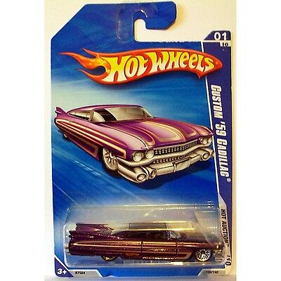 2010 Hot Wheels 159/240 Custom '59 Cadillac, Purple 1:64. Delivery is Free