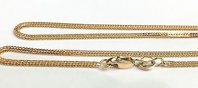 18k Solid Yellow Gold Italian Wheat Chain/Necklace, Diamond Cut 18Inches, 3.65Gr