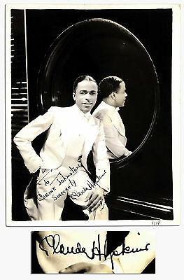 Jazz Legend Claude Hopkins 8x10 Signed Photo