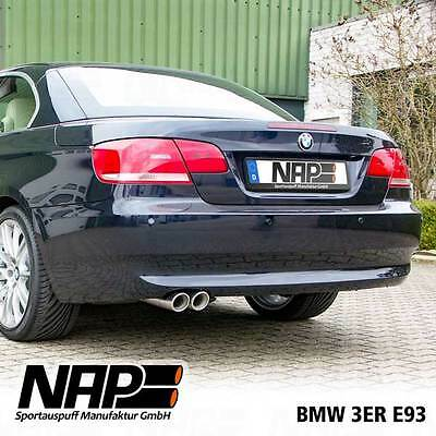 NAP Sport exhaust BMW E92 E93 325i 330i Stainless steel