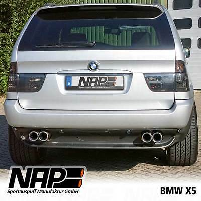 NAP Sport exhaust BMW X5 E53 Stainless steel Duplex