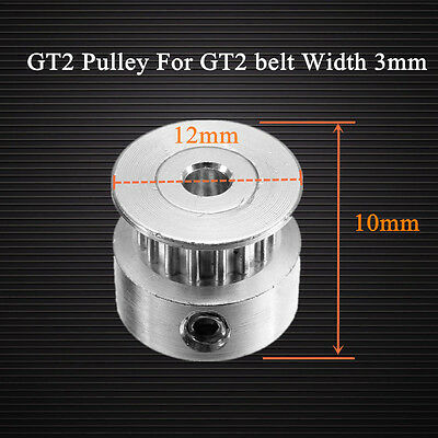 GT2 Pulley 16 Teeth Bore 3MM Timing Gear Alumium For GT2 Belt Width 3MM 3D Print