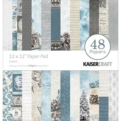 "Kaisercraft 12""x12"" Scrapbooking Paper Pad PP231 ~ Frosted"