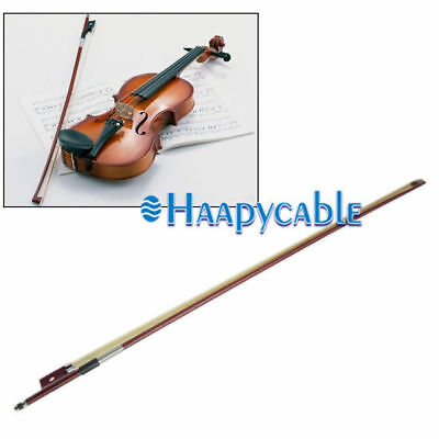 New 4/4 Full Size Natural Acoustic Wood Color Violin Fiddle Bow for Beginner