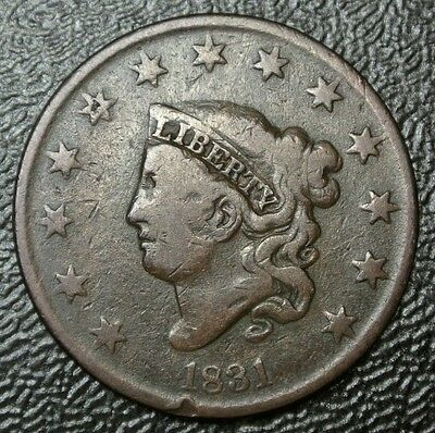 1831 Large Letters - ONE CENT - USA LARGE CENT - Coronet Head - Nice