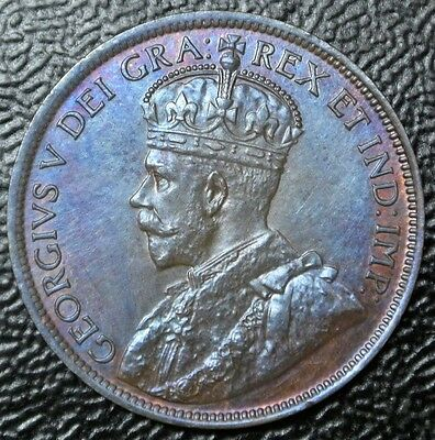 1919 c NEWFOUNDLAND - ONE CENT - LARGE CENT - George V - Gorgeous Red Tone