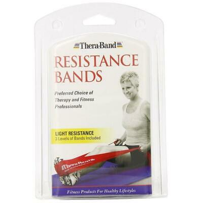 NEW Thera-Band Latex Resistance Bands 3pc Fitness Workout Rehab Exercise Pro