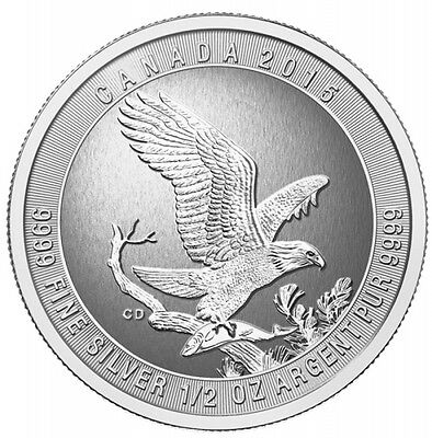 Half oz Silver Eagle (1/2) $2 UnCirculated -canadian From Canada